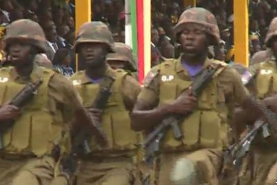 Cameroonian troops march in National Day