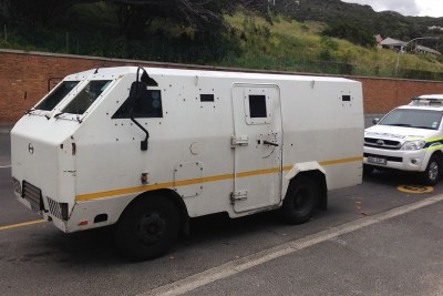 An armoured cash-in-transit van (file photo).