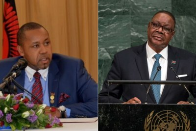 Malawi Vice President Saulos Chilima and President Peter Mutharika.