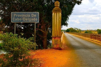 Entering Cabo Delgado province in Mozambique.