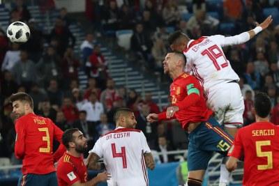 Coupe du monde 2018 - Match opposant le Maroc à l'Espagne