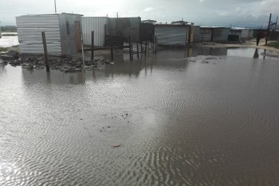 RR Section, Site B, Khayelitsha flooded after heavy rains.