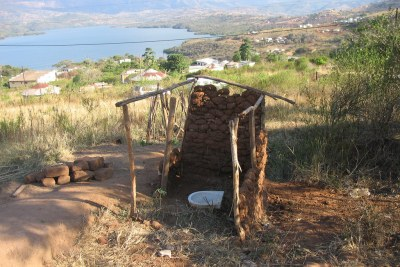 Abandoned pit latrine in the peri-urban area of Durban, South Africa.