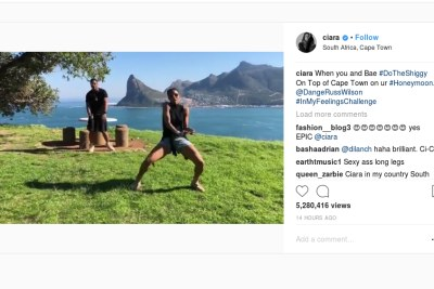 Wilson and Ciara joined in on the#InMyFeelingsChallenge.
