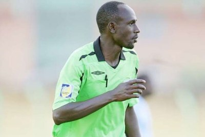 Fifa assistant referee, Aden Marwa, in action during a past match.