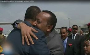 Ethiopian, Eritrean Leaders Embrace as Thousands Cheer