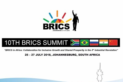 South Africa is hosting the 10th #BRICS Summit from 25 - 27 July 2018 in Johanneburg. The summit's theme is