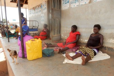 Pregnant women wait to be attended to at a health centre (file photo).