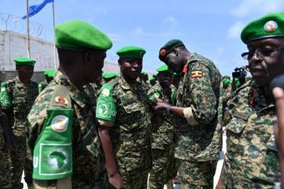 Soldats de l'Amisom.