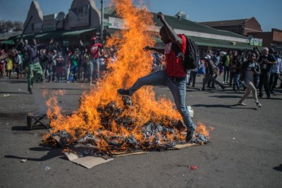 MDC supporters protested in Harare after the electoral commission announced that Zimbabwe's ruling party had won a majority of seats in Parliament (file photo).