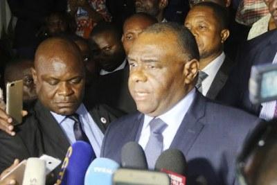 Le sénateur Jean-Pierre Bemba à Kinshasa, le 02/08/2018 après le dépôt de sa candidature à la présidentielle 2018