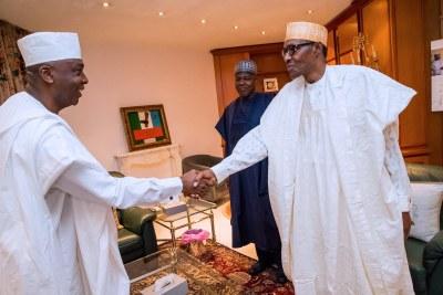 President Muhammadu Buhari and Senate President Bukola Saraki.