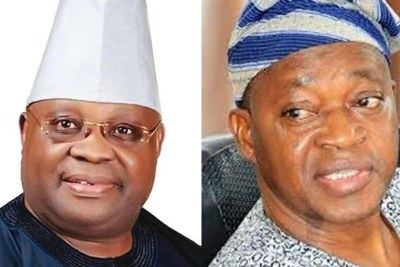 Ademola Adeleke of the PDP and Gboyega Oyetola of the APC