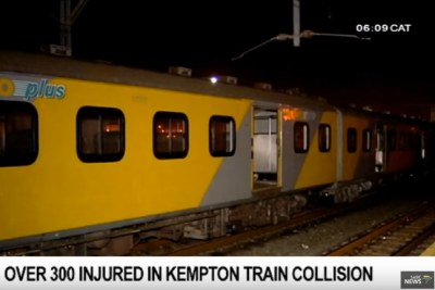 320 commuters were injured in a train crash at a station in Kempton Park on Gauteng's East Rand Thursday night.