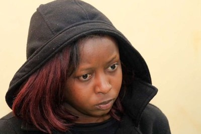 Citizen TV journalist Jackie Maribe when she was arraigned in Kiambu on October 1, 2018 over the murder of Monica Kimani.