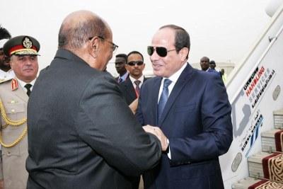 Visite du président égyptien au Soudan