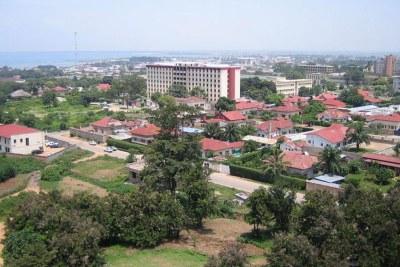 Vue de Bujumbura, capitale du Burundi.