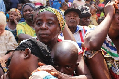Displaced families (file photo).