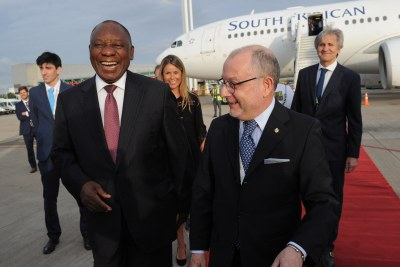 President Cyril Ramaphosa arrives in Argentina for the G20 Summit.