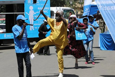 Comedians entertain guests during the opening of a Marie Stopes clinic in Nakuru (file photo).