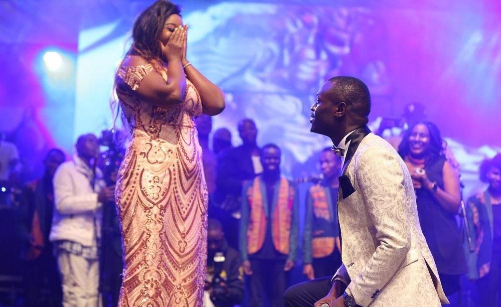 King Kaka Proposes to Girlfriend Nana At Album Launch