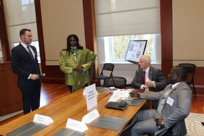 Gallup's John Clifton, Ambassador Sanders, Botswana Ambassador Newman & Mali Ambassador Nimaga