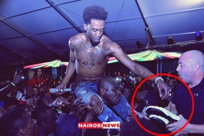 American rapper Desiigner during his performance at the Jameson Connect concert held at the Water Front Mall, Karen, on December 11, 2018.