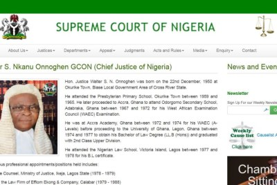 Chief Justice Walter Onnoghen is the head of Nigeria's judiciary.