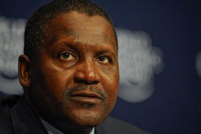 Aliko Dangote est toujours l'homme le plus riche d'Afrique mais son patrimoine a diminué.
