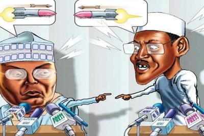 Atiku Abubakar et Président Muhammadu Buhari