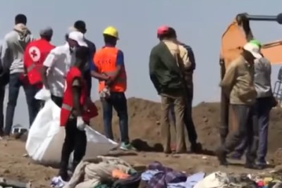 The scene of the Ethiopian Airlines plane crash (file photo).