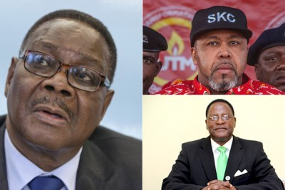 President Peter Mutharika, Vice President Saulos Chilima of UTM and Lazarous Chakwera of the main opposition Malawi Congress Party.