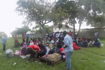 Scores of people, mostly from Malawi, sleeping outside in Sydenham.