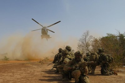 Exercice militaire au Burkina Faso (photo d'archives).