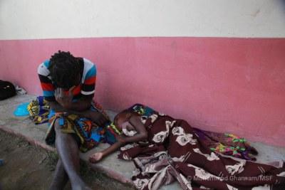 Des personnes affectées par la diarrhée sévère. Mozambique. 2019.