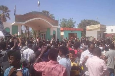 Wad Madani, capital of El Gezira state is also seeing a large response to the call for popular uprising (file photo).
