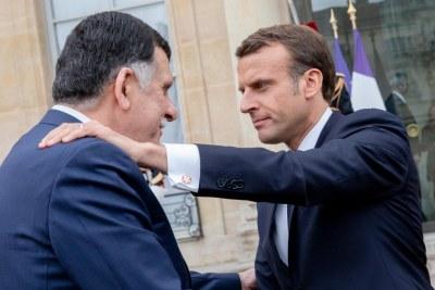 Le Président de la République M. Emmanuel Macron a reçu le mercredi 8 mai le Premier ministre libyen M. Fayez Sarraj.