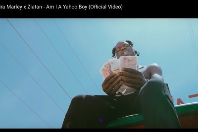 Naira Marley in his video Am I A Yahoo Boy.