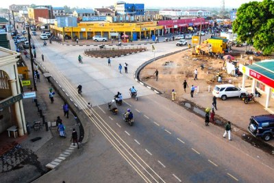 An aerial view of Arua Town (file photo)
