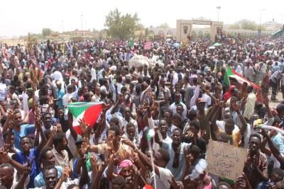 Riots in Khartoum (file photo). .