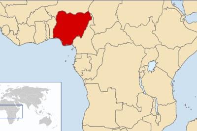 Nigeria on map.