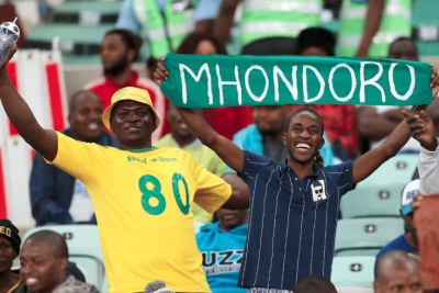 Zimbabwe football fans.