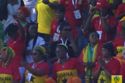 Ghana fans at their team's AFCON match against Guinea Bissau.