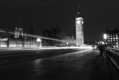 London at night.