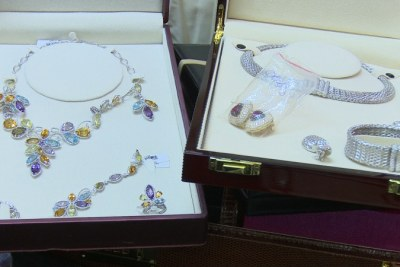 Some of the jewellery recovered from Diezani Alison-Madueke's houses.