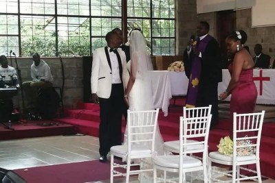 Njeri Ndungu, ties the knot with Nyotu Gitau.