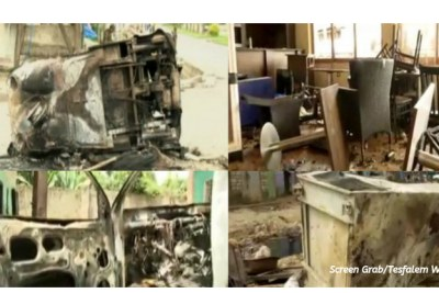 A regional TV, South Radio and Television Agency, showed burned cares, shops, bars and restaurants in Aleta Wendo town during its news hour last night. It also featured distraught civilians who have lost their belongings.