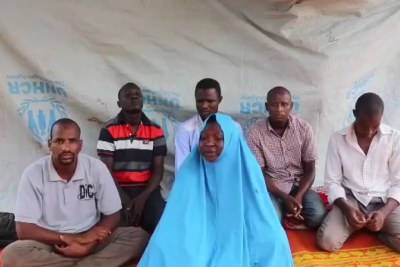 Screenshot of the aid workers. The footage WAS obtained by Nigerian conflict journalist Ahmad Salkida and published by Nigerian news site The Cable.