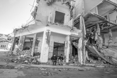 Destroyed buildings in Tripoli (file photo).