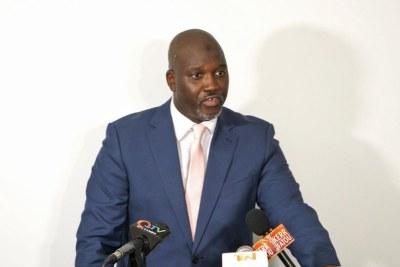 La conférence de presse du ministre de la Justice, procureur général de la Gambie, Abubacarr Tambadou.